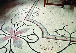 Villa privata – Italia, Terrazzo e mosaico
